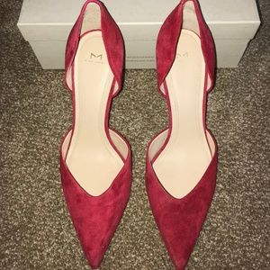 Marc Fisher Red Heels Pumps, Suede Size 10M